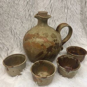 Pottery Carafe and cups